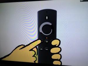 fireTVstick 画面 リモコン 説明