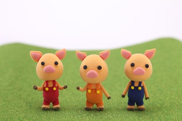 絵本 童話 三匹の子ブタ 人形