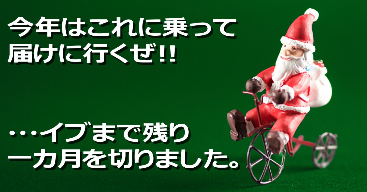 サンタ 自転車 乗り物