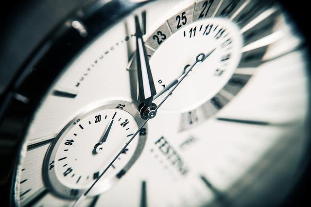時間 時計 〆切り