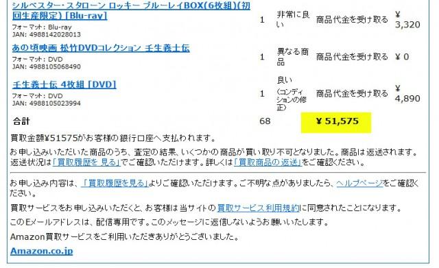 amazon 買取価格 結果