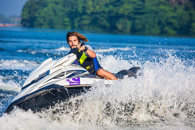 水上スキー すべる