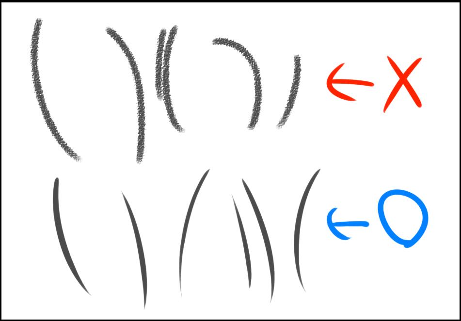初心者必見デジタルイラストの線画をきれいに描く8つの極意 コンテ